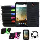 Phone Case For ZTE Midnight-Pro / ZTE Avid-Trio Heavy Duty Cover USBCharger Film