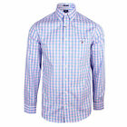 GANT SHIRT MENS BLUE AND PINK GINGHAM CHECK TOP