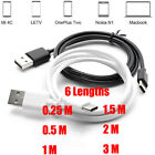 0.25-3M USB Type C 3.1 Reversible Double Side Plug Charger Data Sync Fast Cable