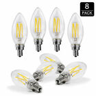 40W Equivalent,2700K Daylight Dimmable Warm Chandelier LED Bulbs E12 Candelabra