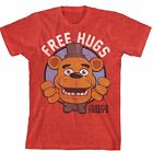 Cool Collectable Shirts! Five Nights at Freddys Free Hugs Boy's Red T-Shirt:
