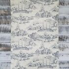 York Wallcovering Traditional Historical Nautical Blue Cream Toile Wallpaper Diy