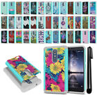 For ZTE Zmax Pro Carry Z981 Hybrid Bumper Shockproof Hard TPU Case Cover + Pen