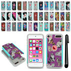 For Apple iPod Touch 6 6th/ 5 5th Gen Hybrid Bumper Shock Proof Case Cover + Pen