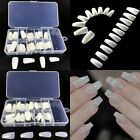 100pcs Clear White Natural Trendy Ballerina DIY full cover long coffin nails DIY