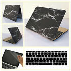 """3in1 Black Marble Hard Case Cover Thin Shell for MacBook 12"""" Air Pro 11""""13""""15"""""""