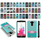For LG G Vista VS880 G Pro 2 Lite D631 Hybrid Bumper Shockproof Case Cover + Pen