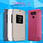Genuine Nillkin Sparkle PU Leather Flip Smart View Window Cover Case For LG G6