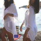Women's Lace Crochet Bikini Beachwear Cover Up Beach Dress Summer Bathing Suit