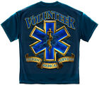 EMS T-Shirt Volunteer EMS Gold Shield Navy