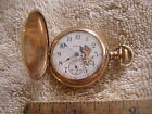 Antique Elgin Pocket Watch Painted Dial Crucifix Ladies Women's 15 Jewels