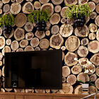 Retro 3D Stump Wallpaper Roll Living Room Bedroom TV Wall Sticker Home Decor 10M