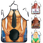 3D Washable Muscle Male Apron Naked Muscle Men Kitchen Cooking Barbecue Apron
