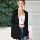 Knitted  Women Jackets Casual Black Spring Outwear Baggy  Leisure wear Soft AB