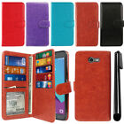 For Samsung Galaxy J3 Emerge J327 2nd Gen Flip Card Slot Wallet Cover Case + Pen