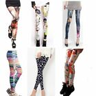 Hot Womens Colorful Galaxy Print Leggings Stretchy Jeggings Pencil Skinny Pants