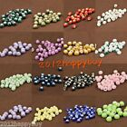 Wholesale Floral Design Round Craft Ceramic Porcelain Charms Loose Spacer Beads