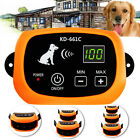 Wireless Rechargeable 1/2/ 3 Dog Fence No-Wire Pet Containment System Waterproof