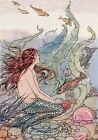 Mermaid Visits Sea Life Quilt Block Multi Sizes FrEE ShiPPinG WoRld WiDE