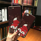 Soft TPU Relief Case For Iphone 7 7 Plus 5S 6 6S 6 Plus Gel 3D Cover Red Fox new