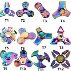 Rainbow Tri-Spinner Figet Spinner Hand Finger Mixed Desk Focus Toy Free Shipping