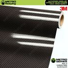 3M REAL D 2.0 HIGH GLOSS BLACK CARBON FIBER Vinyl Wrap Film Sheet Roll Adhesive