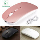 Rechargeable Wireless Optical Mouse 2.4GHz Mute Mice+USB Receiver Laptop PC Mac