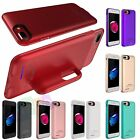 New Battery Power Bank Charger Case Charging Cover For iPhone 7 Plus 6 6s Red
