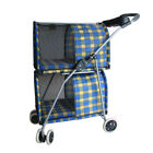New Pet Stroller Double Deck Dog Cat Travel Carrier Strolling Walking Cart Buggy