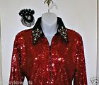Girls Red Sequin Western Rail, Pleasure, Rodeo, Trail, Queen & Glamour Shirt