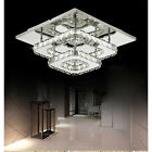 Square 30cm 36W LED Crystal Ceiling lights chandeliers Bilayer Aisle light H501H