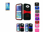 Film LCD+2Layer Hybrid U-Case Cover w/Stand For Samsung Galaxy J7 (2015) Phone