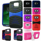 Fishbone 2Layer Shockproof Case Cover Kickstand For Samsung Galaxy S8 G950 Phone