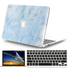 "3in1 Light Blue Marble Hard Case for MacBook Air Pro 11"" 12""13"" 15""-Release 2016"