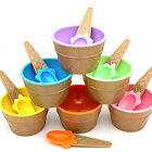 Home Kids Ice Cream Bowls Ice Cream Cup Couples Bowl w/ Spoon Dessert Use Set