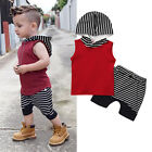 2pcs Toddler Kids Baby Boy Hooded Tops+Short Pants Outfits Clothes Set Summer