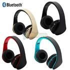Bluetooth FM Stereo Headset Foldable Headphone Built-in Mic For SmartPhone PC US