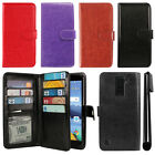 For LG K8V VS500 Flip Card Holder Cash Slot Wallet Cover Case + Pen