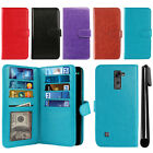 For LG Stylo 2 LS775/ Stylus 2 K520 Flip Card Holder Wallet Cover Case + Pen