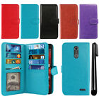 For ZTE Grand X 4 X4 Z956 Z957 Damon Flip Card Holder Wallet Cover Case + Pen