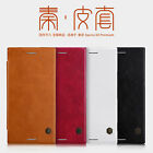 For Sony Xperia XZs / XZ Premium Genuine Nillkin PU Leather Flip Cover Thin Case