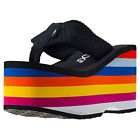 Rocket Dog Bigtop Webbing Wedge Womens Sandals Rainbow New Shoes