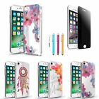 Ultra Thin TPU Back Case + Privacy Tempered Glass Film + Pen For iPhone 7 / Plus
