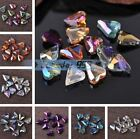 10pcs 12X10mm Heart Faceted Crystal Glass Charms Loose Spacer Beads DIY Findings