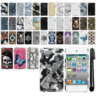 For Apple iPod Touch 4 4th Gen Butterfly Design HARD Back Case Phone Cover + Pen