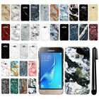 For Samsung Galaxy J1 J120 2nd Gen/ Luna S120 Marble HARD Back Case Cover + Pen