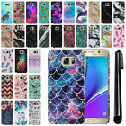 For Samsung Galaxy Note 5 N920 Marble Design HARD Back Case Phone Cover + Pen
