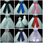 TIE BOW SASH FLOWER For WEDDING PAGEANT FLOWER GIRL DRESS S M L