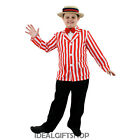 RED & WHITE BOYS  BLAZER + STRAW BOATER FANCY DRESS COSTUME SHOW DANCE