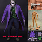 1/6 Scale Batman Joker Clothes and Narrow Shoulder Body Figure Accessories Set